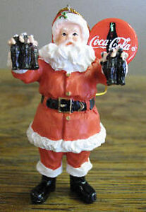 Coca-Cola-Holiday-Santa-Claus-Christmas-Tree-Ornament-2000-Limited-Edition-NIB