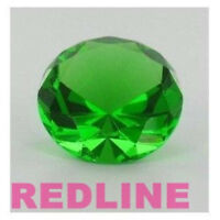 Emerald Green Decorative Round Crystal Diamond Shaped Paperweight- 2.25''