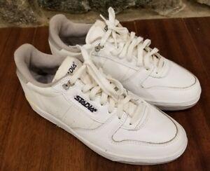 VINTAGE Stadia White Gray Tennis Shoes