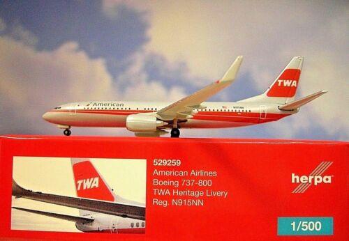 Herpa Wings 1:500 boeing 737-800 americanairlines n915nn 529259 modellairport 500