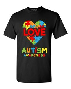 Love Puzzle Heart Autism Awareness Youth/'s T-Shirt Support Love Kind Shirts