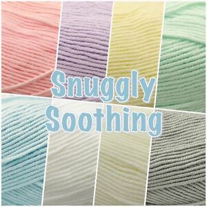 Sirdar-Snuggly-SOOTHING-Soft-Baby-Double-Knit-Knitting-Wool-Yarn-100g-Ball