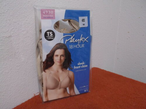 BRAND NEW LADY/'S PLAYTEX WIREFREE NUDE COLOR SLEEK FRONT CLOSE BRA