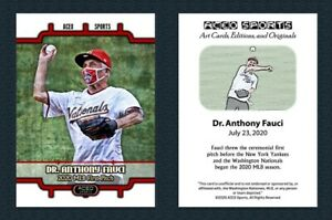 2020-Dr-Anthony-Fauci-Opening-Day-First-Pitch-Art-Card-Editions-Baseball-Card