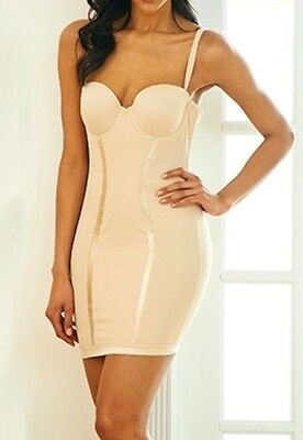 Joan Vass Womens Control Full Slip with Built In Cups
