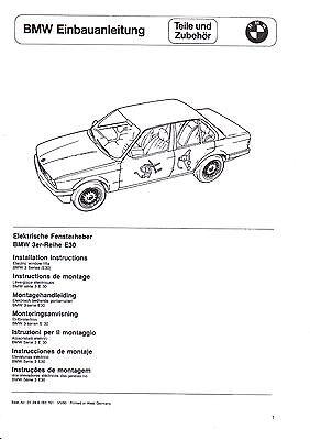 BMW E30 EBA M Paket Einbauanleitung M Technik 2