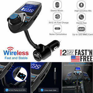 Wireless-Car-Kit-MP3-Player-FM-Transmitter-Audio-Adapter-USB-Charger-Handsfree