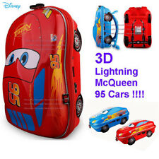 "Disney Pixar Cars 3 Lightning McQueen Hot Wheel Shape 9/"" School Bag Backpack Kid"