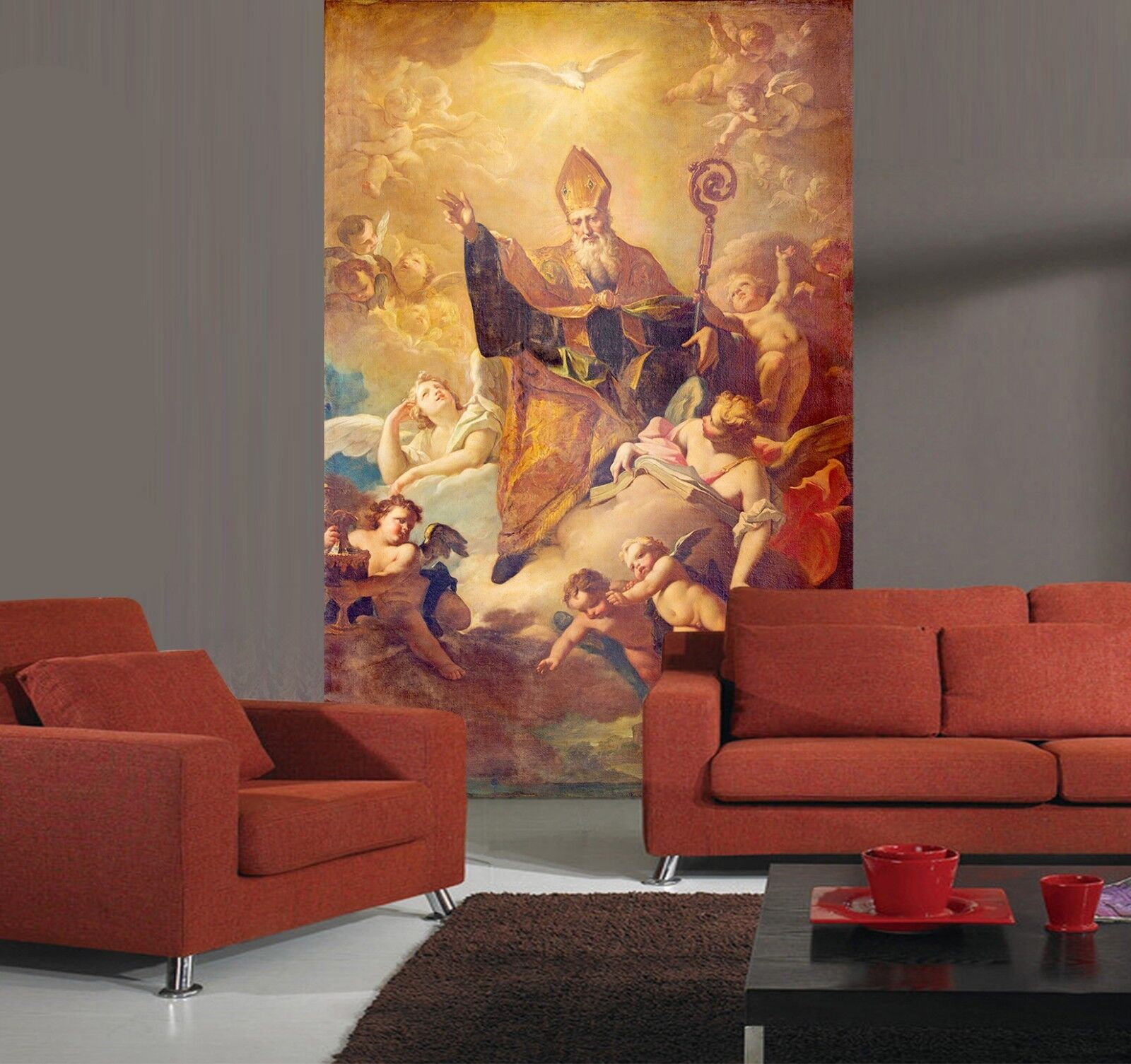 3D Taube Himmel Engel 11 Tapete Wandgemälde Tapete Tapeten Familie Kinde DE
