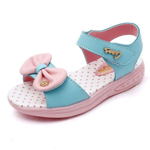 Summer Casual Beaches Shoes Hot Sale Kids Girls Bow Sandals Adjustable Open Toe