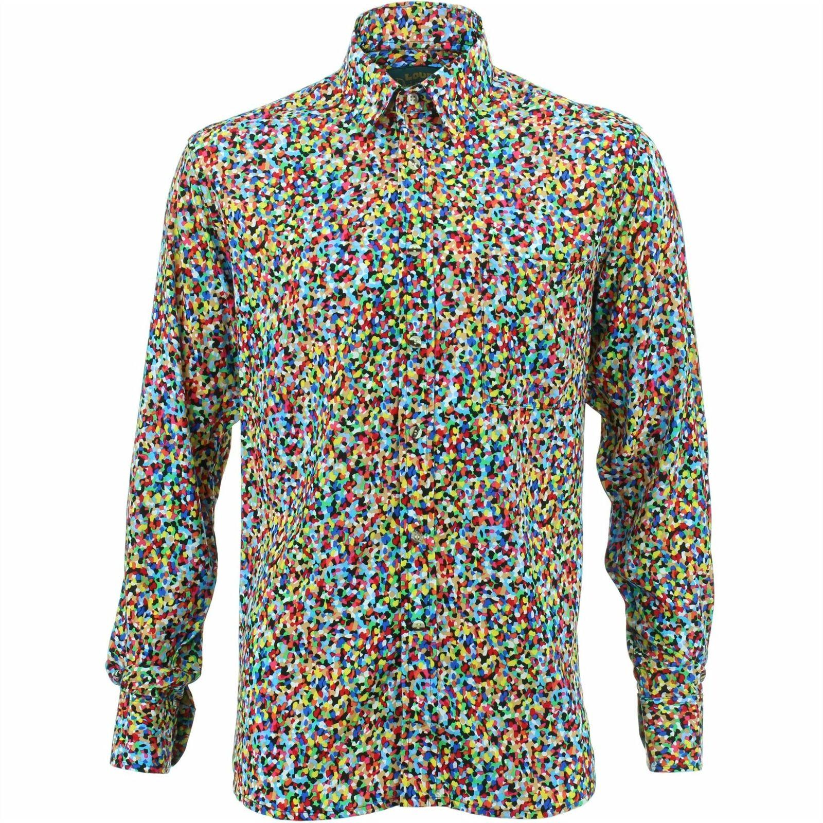 Mens Shirt Loud Originals REGULAR FIT Abstract Multi Retro Psychedelic Fancy