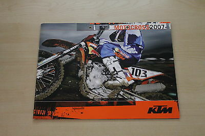 Amicable 165840 Ktm Motocross Modellprogramm Prospekt 2007 New Varieties Are Introduced One After Another