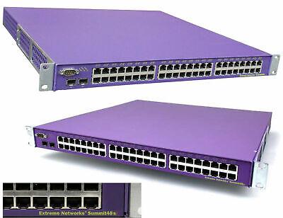 48x 10/100 Switch Extreme Networks Summit48s Layer3 2x Redundante Alimentatore Adatto Per Uomini, Donne E Bambini