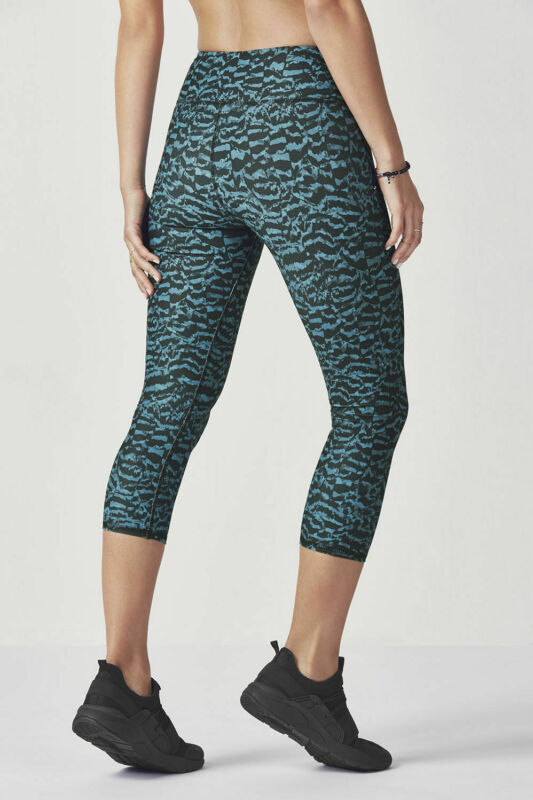 Completamente elastico in vita navy/&black Donna Boot Cut stretch a costine pantaloni
