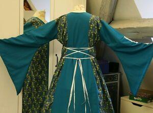 Mittelalter Kleid Gewand LARP Gothic Fantasy Larp Gr 50 petrol 46 48