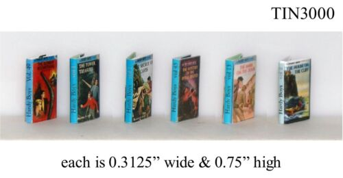 HARDY BOYS COLLECTION Printed Pages Miniatures 1:12 Scale Heirloom Quality!