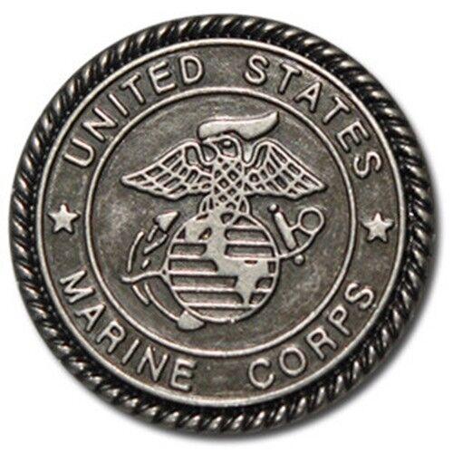 "5380-CC 1/""  Antique Nickel US Marines Emblem Decorative Metal Piece"