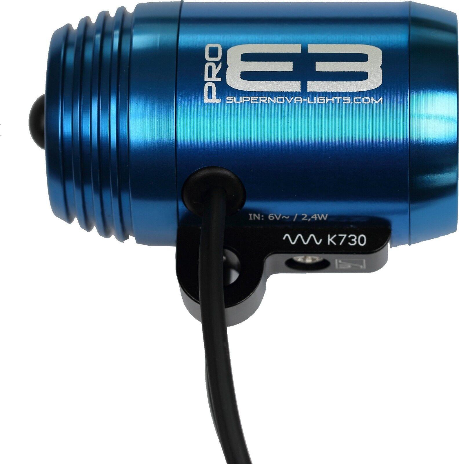 Dínamo Faros Supernova E3 Pro Azul