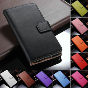 Genuine-Leather-Flip-Wallet-Case-Cover-For-Samsung-Galaxy-S5-SV-i9600