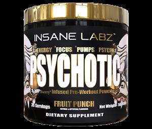 INSANE-LABZ-PSYCHOTIC-GOLD-Pre-Workout-Strength-Energy-CHOOSE-FLAVOR