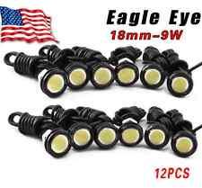 12X Motor Car 9W White Eagle Eye 18mm LED Daytime Running DRL Tail Backup Bulbs