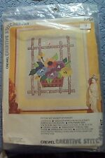 "creative stitchery Crewel Embro kit - "" basket of pansies"" 876A"