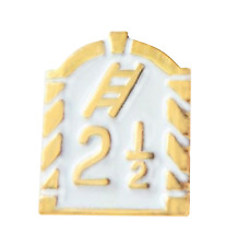 Royal Arch 2 1/2 Tribes With Ladder Tiny White Orange Order Pin Badge