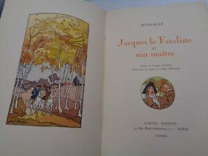 DIDEROT-Jacques-le-Fataliste-et-son-maitre-illustrations-couleurs-Joseph-Hemard