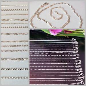 10-Stk-verschiedene-Halsketten-Kette-fuer-Anhaenger-925-Silber-pl-Haendler-Posten