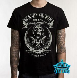 black sabbath the end world tour t shirt rock tee concert shirt 2016 ebay. Black Bedroom Furniture Sets. Home Design Ideas