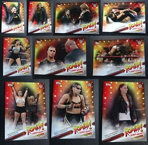2019-Topps-WWE-Raw-Ronda-Rousey-Spotlight-Wrestling-Cards-Complete-Your-Set-Pick