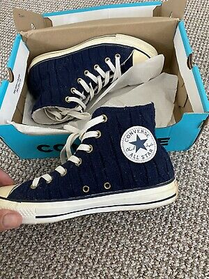Womens Converse Trainers, Knitted Navy