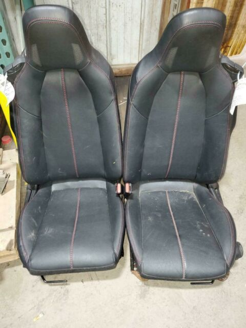 MAZDA MX-5 MIATA 2 Front Seats, Black Leather w/ Red Stitching. 2016