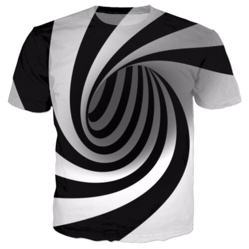 S-5XL New Fashion Womens//Mens Hypnosis Funny 3D Print Casual T-Shirts Tops Tee