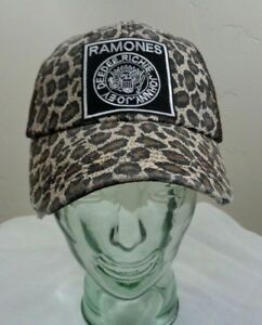 a101c3859 ramones hat mesh trucker cap snap back leopard cheetah punk rock alt ...