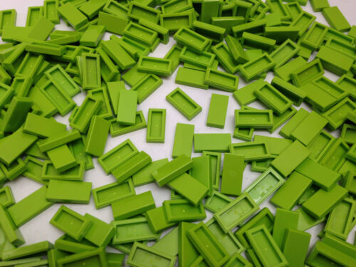 25  Or 50 Pieces LEGO 3069 LIME Green Flat Tile 1x2-10