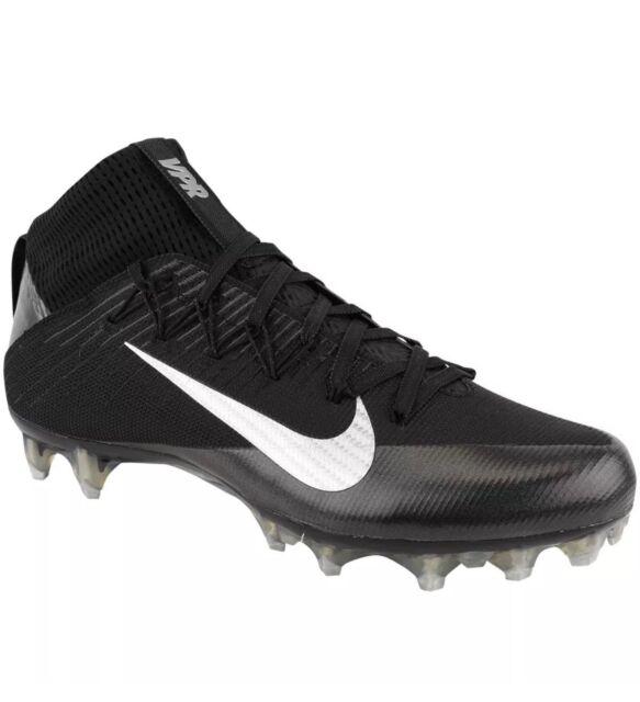 b2a197e66cb2 $200 Mens NIKE Vapor Carbon Untouchable 2 Football Cleats BLACK SILVER sz 15