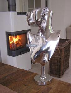 Frau-Alu-Aluminium-Deko-Figur-Abstrakte-Skulptur-Statue-Impressionen-Art-Modern