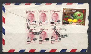 Filippine-STORIA-POSTALE-insolito-e-attraente-COPERTURA-busta