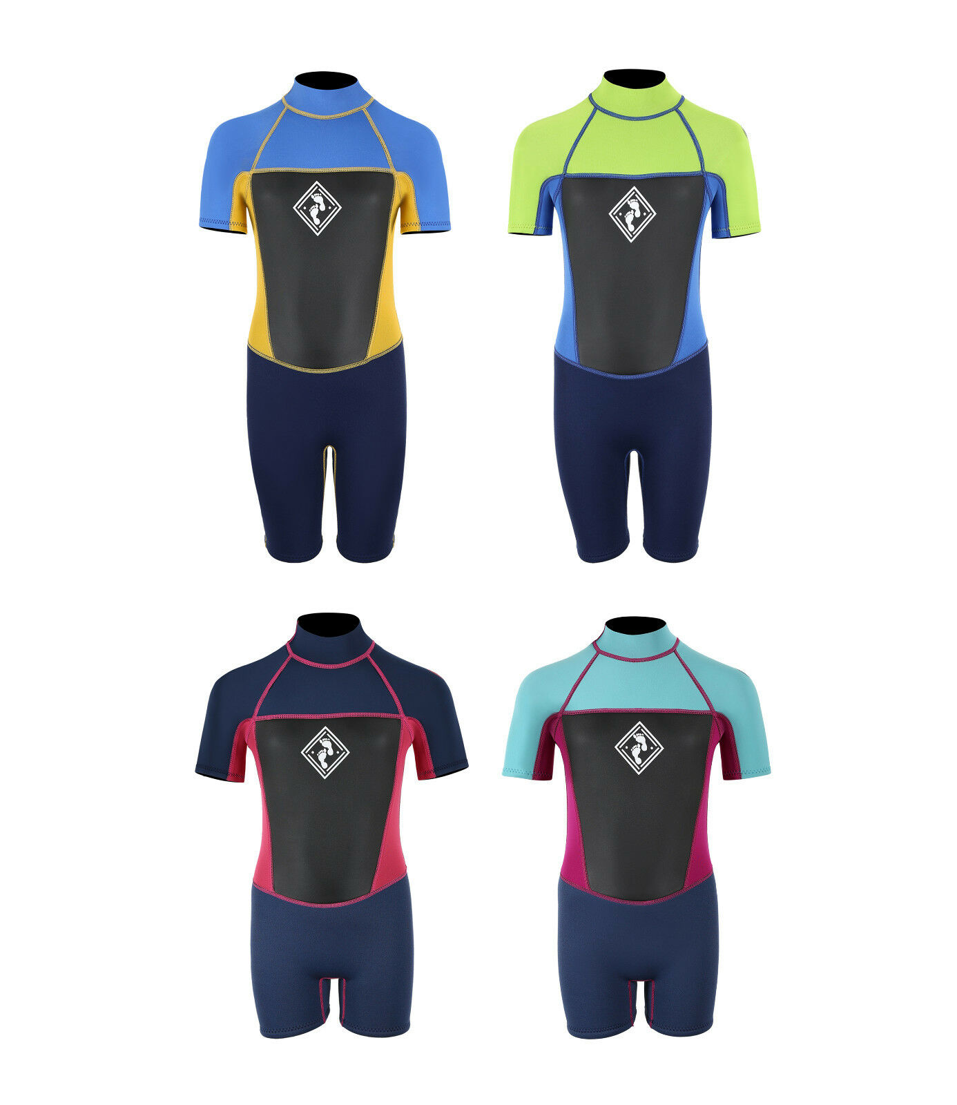 MD Junior Squadron Shorty Wetsuit by TWO BARE FEET Surf Choice of Colours Kids