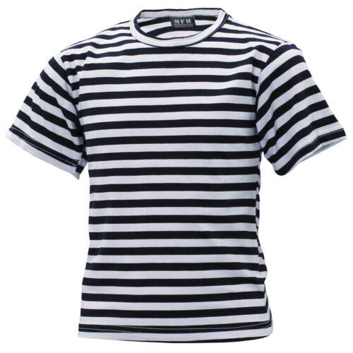Bambini T-shirt Marina Russa Blu Bianco a Strisce pirata 122 128 134 140 /> 176