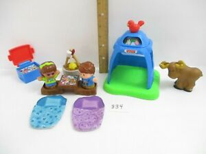 Fisher Price Little People Camping Lot- Boy Girl Tent Camp ...