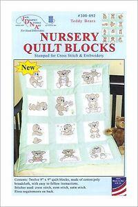 Teddy Bears Nursery Quilt Blocks Pkg Of 12 Jack Dempsey