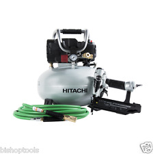 Hitachi 18G Brad Nailer & Pancake Compressor Combo Kit KNT50AB NEW