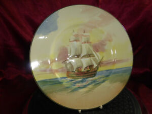 Vintage-ROYAL-DOULTON-Famous-Ships-THE-VICTORY-Flagship-Lord-Nelson-Trafalgar