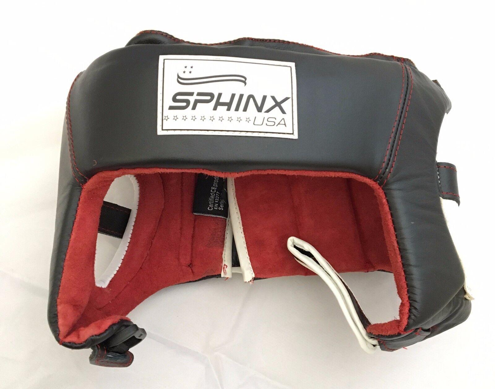 SPHINX USA Men Casco prossoettivo per boxe nero uomo