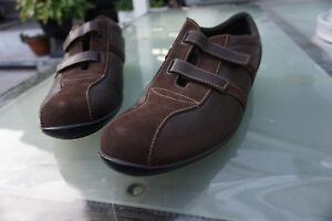 SAMSONITE-da-Uomo-Comfort-Scarpe-Sneaker-Velcro-V-tg-10-44-marrone-pelle-TOP