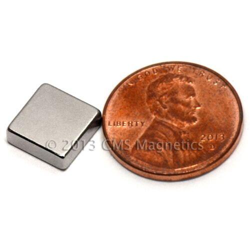 "CMS Magnetics® 100 pieces Neodymium Magnets N45 3//8x3//8x1//8/"""