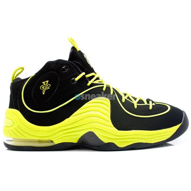 Nike Air Black Penny 2 ii II LE Black Air Volt Size 13. neon yellow 535600-003 5a2978