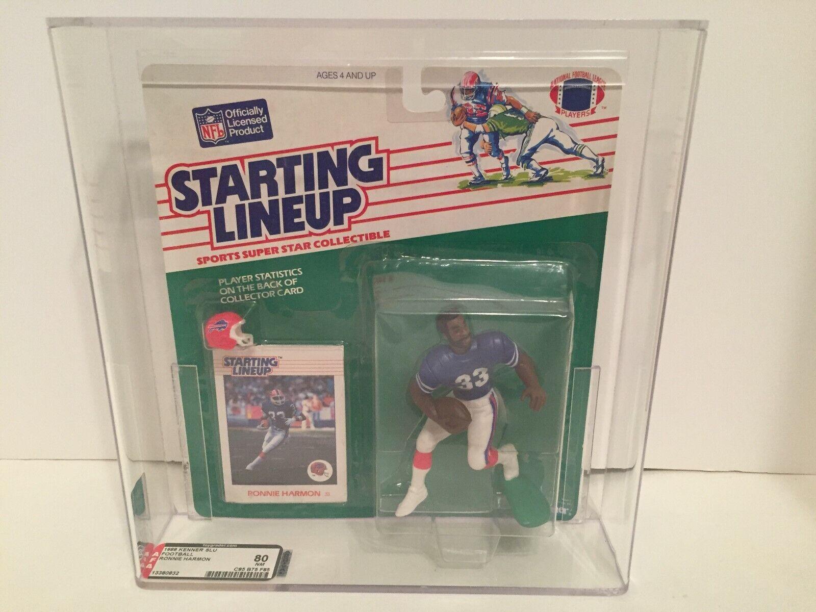 1988 Starting Lineup Ronnie Harmon football toy Buffalo Bills NFL AFA graded 80